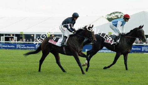 Racehorses Rumplestiltskin with Jockey, Kieren Fallon and Twinspot with Jockey, Ronan Thomas